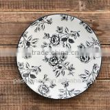 Art Design Hand Painting Ceramic Plate Model CP8131