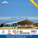 Shanghai metal tent for event with glass wall, ABS hard wall, sandwich panel wall optional