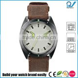 Delightful Applied Index Riveted Light green luminous quartz watch calendar stainless steel case with nylon strap watch