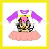 2016 Hot Sell Product Bros Angel Baby 100% Cotton Purple Pink Clothing Dress