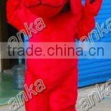 dog fur costume (red,dog mascot,advertising,adult,ANKA)