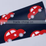lovely car printed Cotton Fabric With PVC Coating