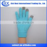 Lovely design soft China wholesale custom acrylic glove,smart mobile phone tablet pc screen gloves