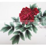 Handmade nature peony flower home decor paintings for sale