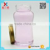 Glass food jar with tin cap glass food with metal lid glass jam jars with metal cap                                                                         Quality Choice