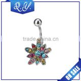 NB0206 2016 Female Body Piercing Jewelry, flexible navel belly ring accessories for women