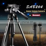 Flexible aluminum camera tripod best travel photo tripod with fluid head dslr camera tripod                                                                         Quality Choice
