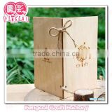 Custom Design Wooden Engraved Birthday Greeting Card (OEM Wooden craft in laser cut&engraving)