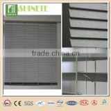 easy to demolition and clean pearlyte manual plastic chain aluminium venetian window blinds/shutters 25mm