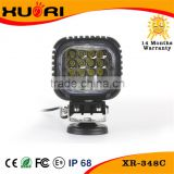 2016 hot led fog lamp round/square 48w led work light for truck off road vehicle heavy duty fork trains boats bus