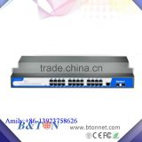 24 Port 10/100/1000M Optic Fiber Rackmount Managed Industrial Ethernet Switch