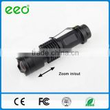 Aluminum 3W LED Torch Light Waterproof 3W LED Flash Light Zoom Police Tactical 3W SMD LED Flash Torch