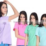 Alibaba sell blank women polo t shirt, 95 cotton 5 spandex tight slim fit polo t shirts for lady,women plain color poloshirts