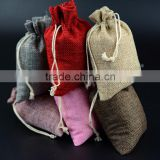 New design natural jute drawstring bag with cotton rope china supplier                                                                                                         Supplier's Choice