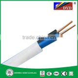 white color pvc sheathed 99.99% copper 3 core flat cable----BS standard