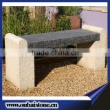 Polished Outdoor Cheap Stone Bench With Black Granite Top