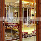 top selling products 2015 with stripe and flower sliding door for living room and kitchen door