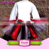 High quality children's clothing handmade multiple color tutu skirts set and white top Baby girls dance wear fluffy tutu skirts