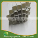 plastic white square ABS tube large size plastic tube 10mm and 50cm length model tube