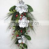 artificial flowers christmas wall hanging poppy decoration swag