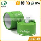 Green hot logo stamping round packaging gift box handmade round boxes for cosmetic