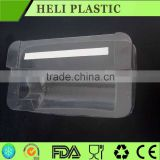 Clear transparent plastic PVC tray for face cleaning cream packaging