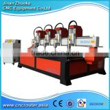 4 Heads 2500*1300mm Furniture CNC Router on 4 Z-axis NcStudio Control ZK-2513-4