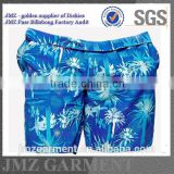 custom OEM wholesale swim trunks swimwear for mens polyester with your own print design new 2015 low moq China supplier