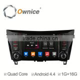 Ownice C300 Android 4.4 quad core DVD GPS radio for nissan qashqai x-trial with Ipod Iphone