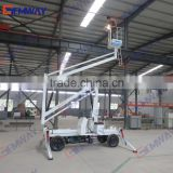 8m Hydraulic trailer mounted articulating boom lift