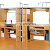 2012 HOT sale high qaulity steel school furniture/ bunk bed with locker