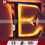 3D backlit stainless steel led signage