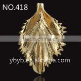 metal 3d leaf logo Applique garment accessories in trimming, jewelry component -418
