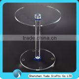wholesale high quality custom made assembled small high clear acrylic round dining table cheap