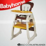 high quality 2 in 1 baby table chair plastic baby dinning chair