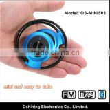 popular blue delicate mini foldable bluetooth stereo headphone with TF card(OS-MINI503)