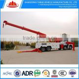 FAW 6X4 60T towing road wrecker truck manufacture in china for hot sale reasonable price