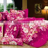 Hot sale cotton mercerized bed sheet , quilt , bedding sets, reactive printed floral design