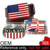 cheap national day gift usa american custom metal nation flag belt buckle
