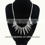 2013 Spike Rivet Punk Necklace with Rhinestone-N330036