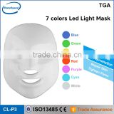 high quality 7 colors light therapy photon skin rejuvenation led mask