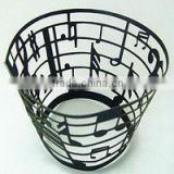Wholesale Colored black music Cupcake Wraps Pearl Paper Laser Cutting Hollow Out Cupcake Decorations