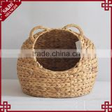 Pet product wholesale natural water hyacinth woven pet bed