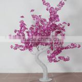 Home garden decorative 150cm Height outdoor artificial pink with red flashing LED solar lighted up trees EDS06 1414