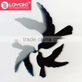 new DIY MDF 3D Bird wall sticker Home Decal for kids Room Wall wood Murals sticker wall art decor