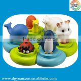 2015 new hot baby bath animal toy in Baby's Tub wholesale bath puzzle toy for kids from icti manufactiory