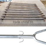 Greenhouse Steel stake structure holding ground anchor / Hooks ring Anchor / Anchors hoop