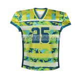 Custom american football uniforms/sublimation american football jerseys 100%polyester spandex