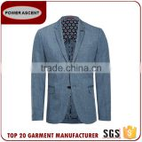 New 2017 European Polyester Viscose Denim Fashion Custom Made Jacket Latest Suit Styles For Men