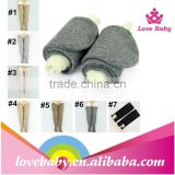 In stock cheap leg warmer for child good quantity wholesale legwarmer with pattern buttons